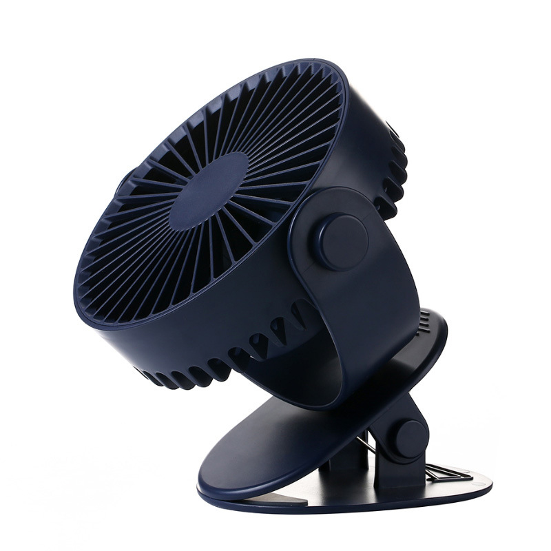 Mini Mute Clip Fan Rechargeable Silent 4 Blades Baby Stroller Fans Portable Air Cooling 3 Speeds Desk Usb Fan With Usb Output|Fans| |  - title=