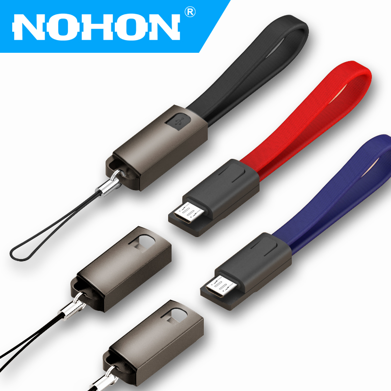 NOHON Portable Keychain USB Cable For iPhone Micro Type C 8pin Charging Sync Data Cord Fast Charging For Android Xiaomi Samsung|Mobile Phone Cables| |  - AliExpress
