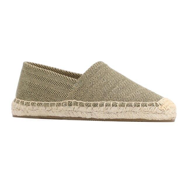 ผู้หญิง espadrilles ขี้เกียจ zapatos mujer ผู้หญิงผ้าใบลำลองรองเท้าการ์ตูนผ้าลินินผู้หญิง Espadrille Fisherman สุภาพสตรีรองเท้า Plimsolls L