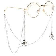 Punk Silver Skeleton Cross Handmade Glasses Chain Sun Glasses Sunglasses Delicacy Accessories Anti-slip Decoration