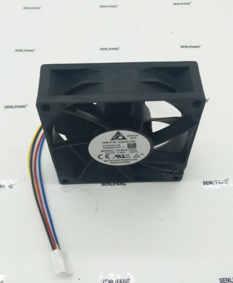 For Delta FFB0812XH 80*80*25mm 8cm DC 12V 2A 4 Lines Powerful Pwm Axial Server High Speed Big Air Volume Violence Cooling Fan