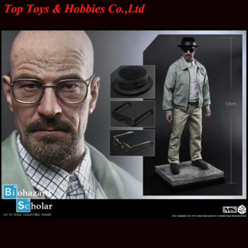 Collection 1/4 Statue CGL TOYS MS01 Walter White Biohazard Scholar Figure Collection Model in stock image