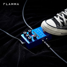 FLAMMA FS03 Guitar Delay Effects Pedal Stereo Delay Pedal 6 Delay Effects with 80s Looper Storable Presets Tap Tempo Trail on