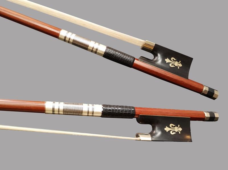 25pcs/lot 4/4 Flower Inlay Violin Bow Brazilwood High Quality Pernambuco