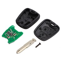 2 düğmeler uzaktan kumanda araba itmeli anahtar uzaktan anahtar Fob denetleyici PEUGEOT 206 433MHZ ile PCF7961 Transponder çip