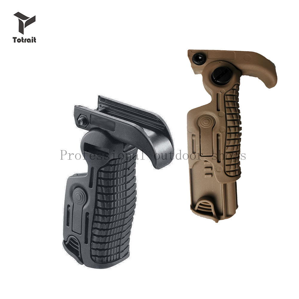 TOtrait Polymer Airsoft Pistol Grip Folding Grip Handle For 0-21mm Rail Fit Water Gun Nerfly T43 Hunting Accessories