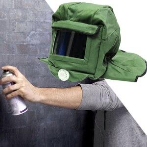 Image 5 - Canvas Sand Blasting Hood Cap Shawl Cap Sandblaster Mask Anti Dust Hood Protective Gear Mask
