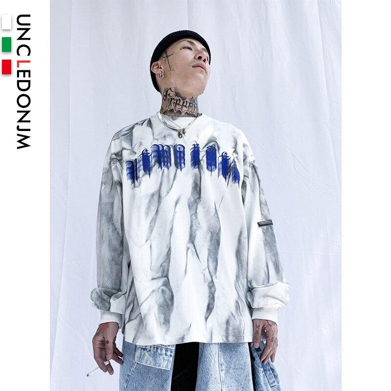 UNCLEDONJM Vintage Harajuku Sweatshirt Men Oversized Sweatshirt Men/Women Cotton Sweatshirts Autumn Winter Pullover YX25R14