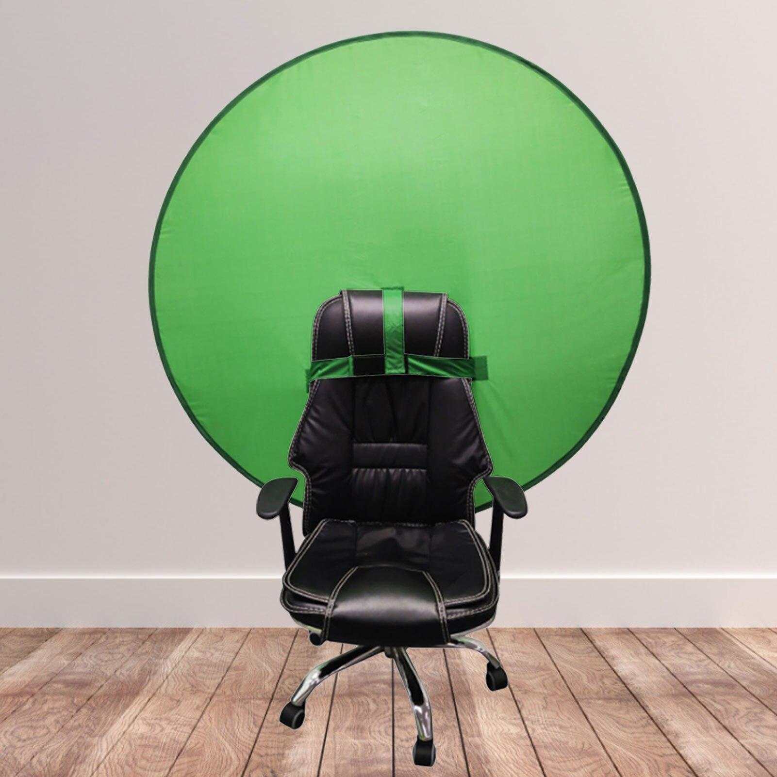Фон для фотосъемки с зеленым экраном 142 см, портативный однотонный фон зеленого цвета, ткань для фотостудии