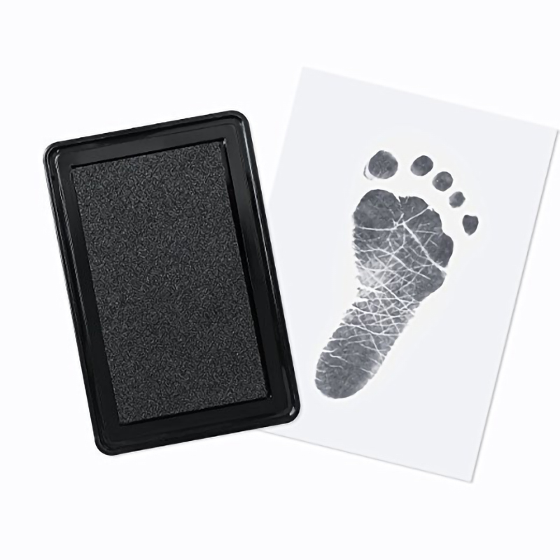 Baby Handprint Footprint Imprint Kit Non-Toxic Baby Care Baby Souvenirs Casting Newborn Footprint Ink Pad Infant Clay Toy Gifts