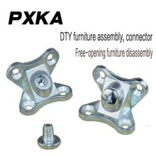 Free shipping  DIY furniture hardware three-in-one connector connection screw fastening parts removal angle iron
