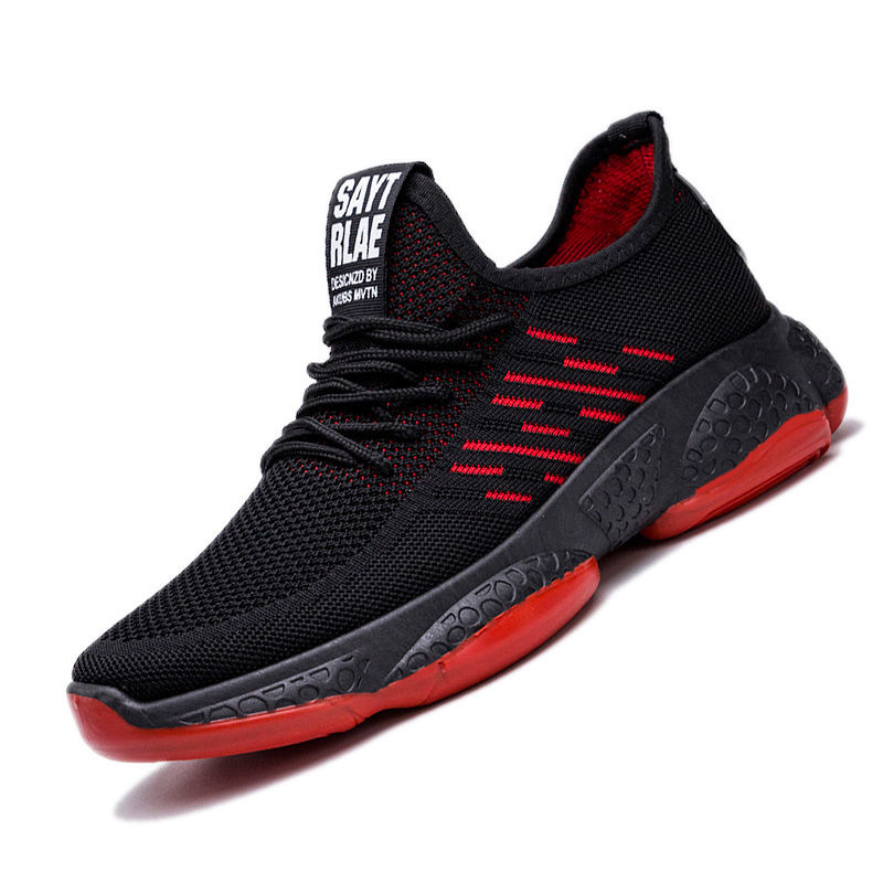 Man Casual Shoes Light Fashion Sneakers Brand Summer Breathable Flyknit Walking Shoes Outdoor Trend Flats Footwear Zapatillas