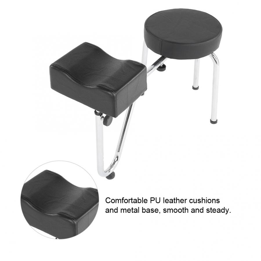 Adjustable PU Leather Tattoo Leg Arm Rest Pad Pedicure Foot Stool Chair Foot Cushion Tools