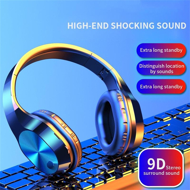 CARPRIE New Portable Wireless Headphones Bluetooth Stereo Foldable Headset Audio Mp3 Adjustable Earphones with Mic for Music 1