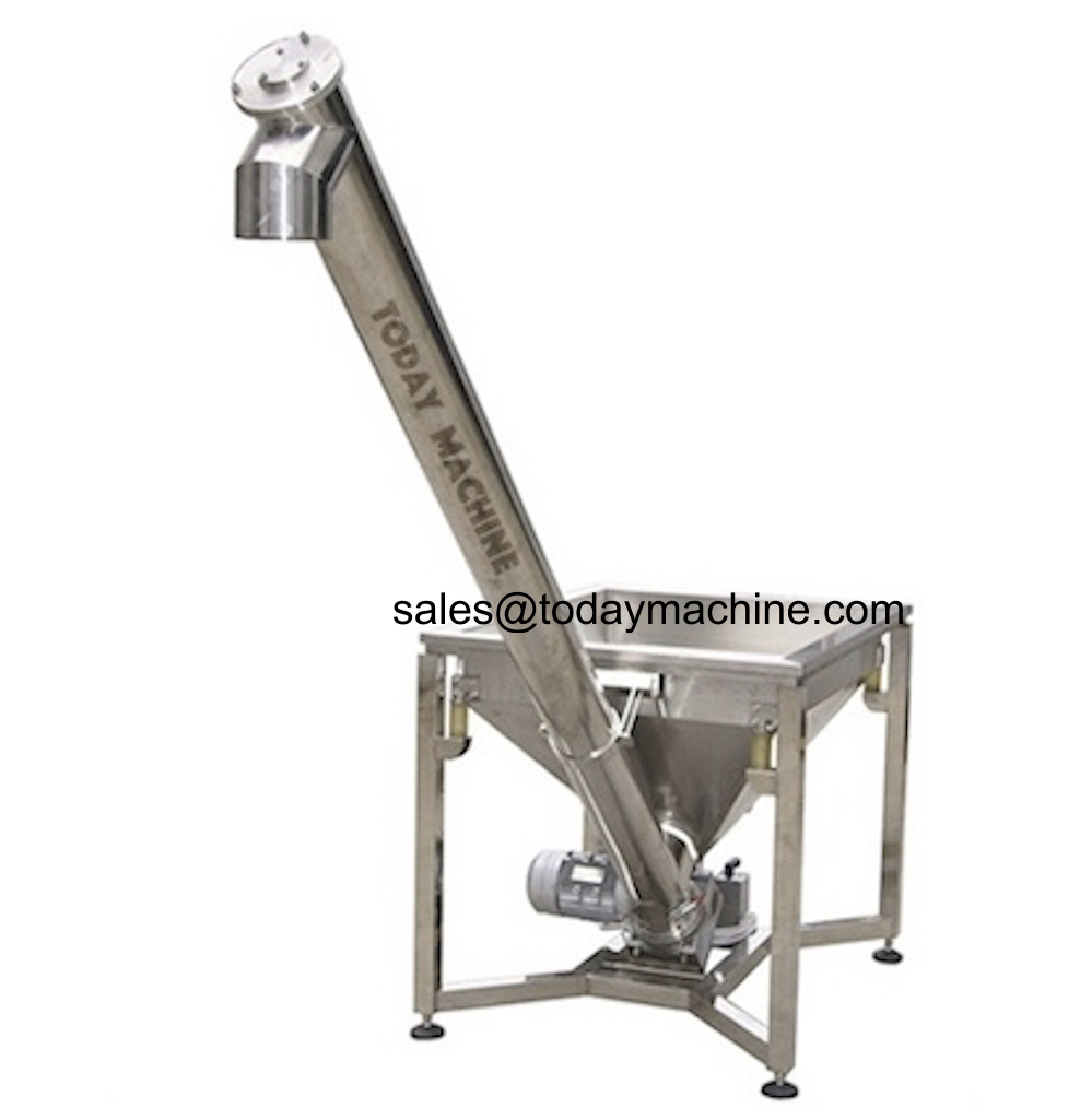 Flexible Grain Auger Screw Conveyor With Steel Screw Blade Inside