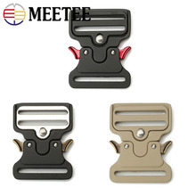 Meetee 1/2/4pcs 50mm Metal Strap Belt Buckle Outdoor Quick Release Buckles Adjustable DIY Bag Clothes Leather Hardware Accessory