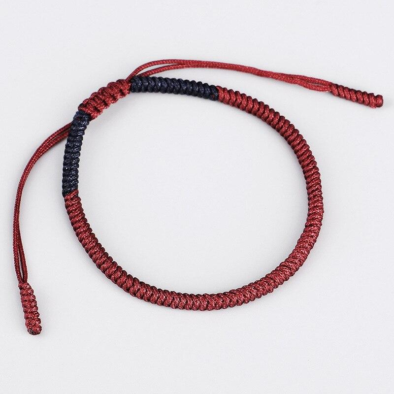 Tibetan Buddhist Lucky Charm Tibetan Bracelets For Women Men Handmade Knots Crimson Navy Rope Christmas Gift Thread Bracelet