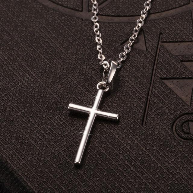 Лидер продаж серебряные ожерелья с крестом подвеска 925 простое