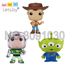 letsjoy pop horse vinyl collection toy story alien Buzz Lightyear woody ACTION FIGURE US cartoon Anime model Home Decoration