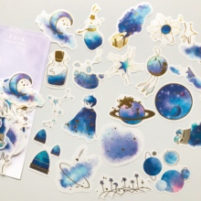 60 pcs /Bag Starry Dream Sky  Paper Diary Stickers Decorative Album Notebook Decor