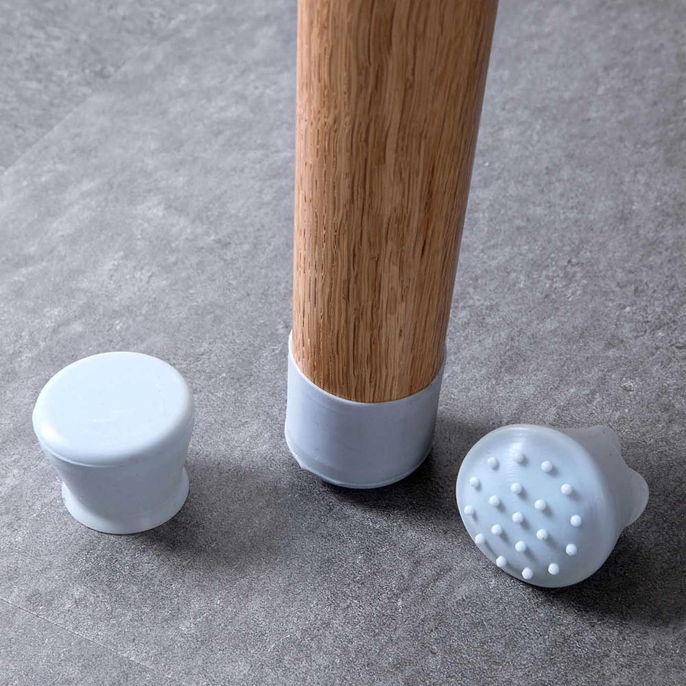 4pcs Chair Leg Caps Silicone Feet Protector Pads Furniture Table Covers Sock Hole Plugs Dust Cover Floor Protector Non-Slip Cups