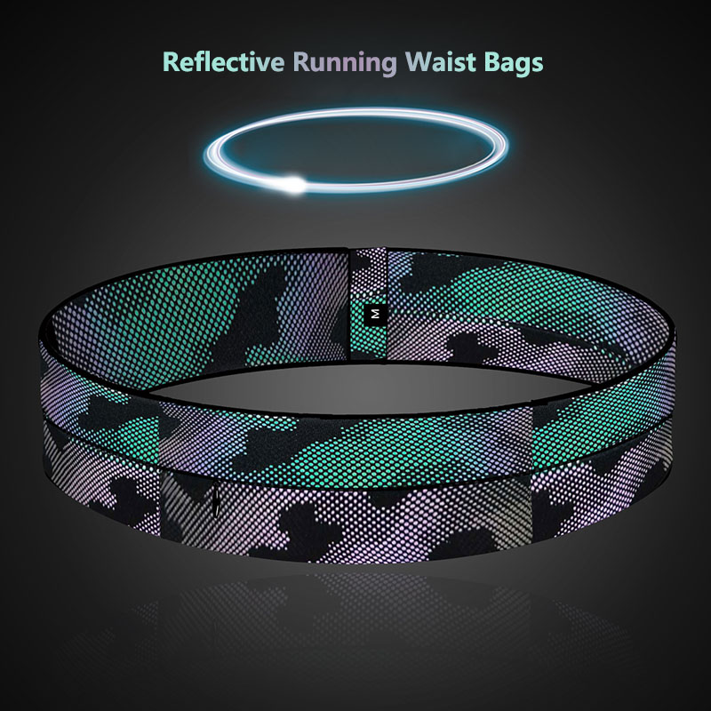 Reflective Outdoor Running Waist Bags Multi-function Large-capacity Pockets Mobile Phone Holder Cycling Fitness Ultra-thin Bags