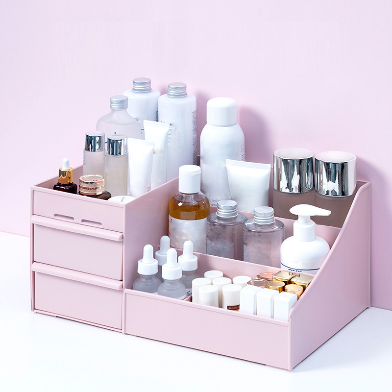 Large Capacity Cosmetic Storage Box Makeup Drawer Organizer Jewelry Nail Polish Makeup Container Desktop Sundries Storage Box