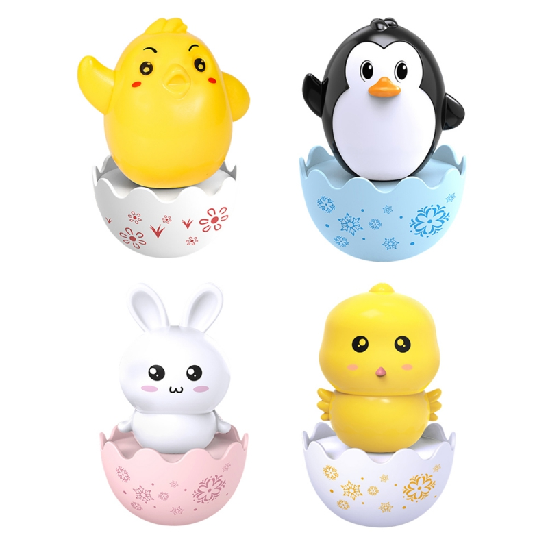 Baby Lovely Cartoon Fun Chick Tumbler Toys Brain Game Toy For Kids 1pc