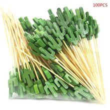 Decoration Toothpicks Party-Supplies Handmade Food-Fruit-Cocktail Picnic Disposable 100pcs