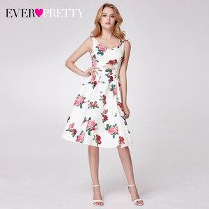 Image 4 - Elegnat Floral Printed Homecoming Dresses Ever Pretty Sleeveless A Line V Neck Simple Beach Style Graduation Dresses Vestidos