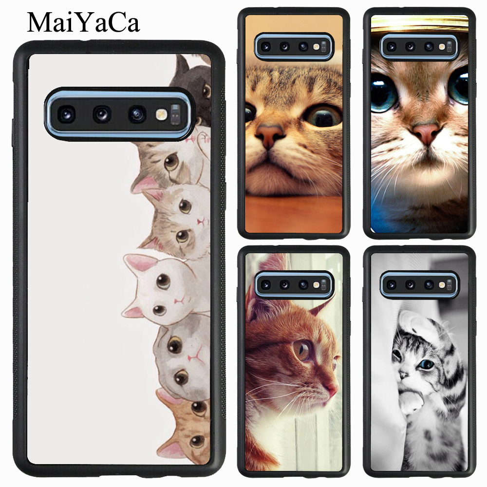 <font><b>Funny</b></font> Curious Cat Sneaking Up <font><b>Case</b></font> For <font><b>Samsung</b></font> A51 A71 A7 A40 <font><b>A50</b></font> A70 A10 Note 10 S8 S9 S10 Plus S20 Ultra S10e image