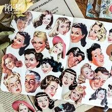 Die Moderne Liebhaber Mohamm Vintage Label Tagebuch Stationäre Reise Kleine Papier Dekorative Kalender Aufkleber Scrapbooking Flocken