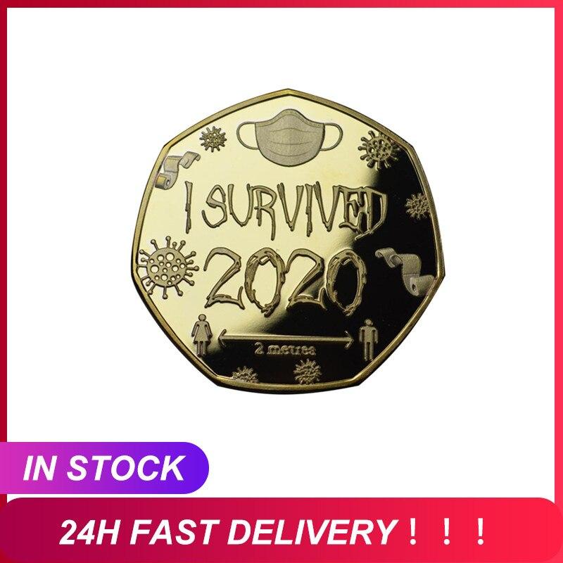 Я пережил 2020 медаль и памятный набор, подарок для коллекционеров монет