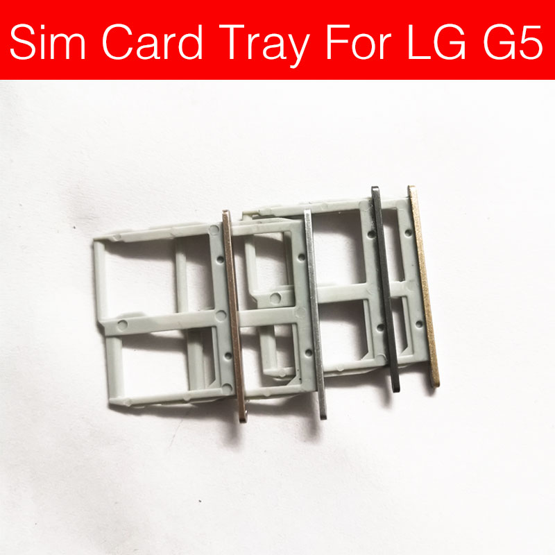 SD Memory & SIM Card Tray Holder For LG G5 G6 F700S Sim Card Reader Slot Socket Adapter Replacement Repair Parts Accessories