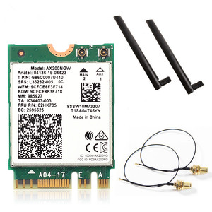 Image 1 - Carte Wifi 6 double bande, 2400 mb/s, NGFF M.2, avec Bluetooth 5.0, 802.11ac/ax, ensemble dantennes Intel AX200NGW, sans fil