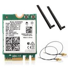 Dual Band Wifi 6  Wireless 2400Mbps AX200NGW NGFF M.2 Wlan Bluetooth 5.0 Wifi Card 802.11ac/ax For Intel AX200 Antennas Set