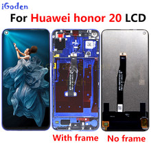 Original Display 6.26 inch For Huawei Honor 20 honor20 LCD Display Touch Screen Digitizer Assembly with frame For honor 20 lcd(China)