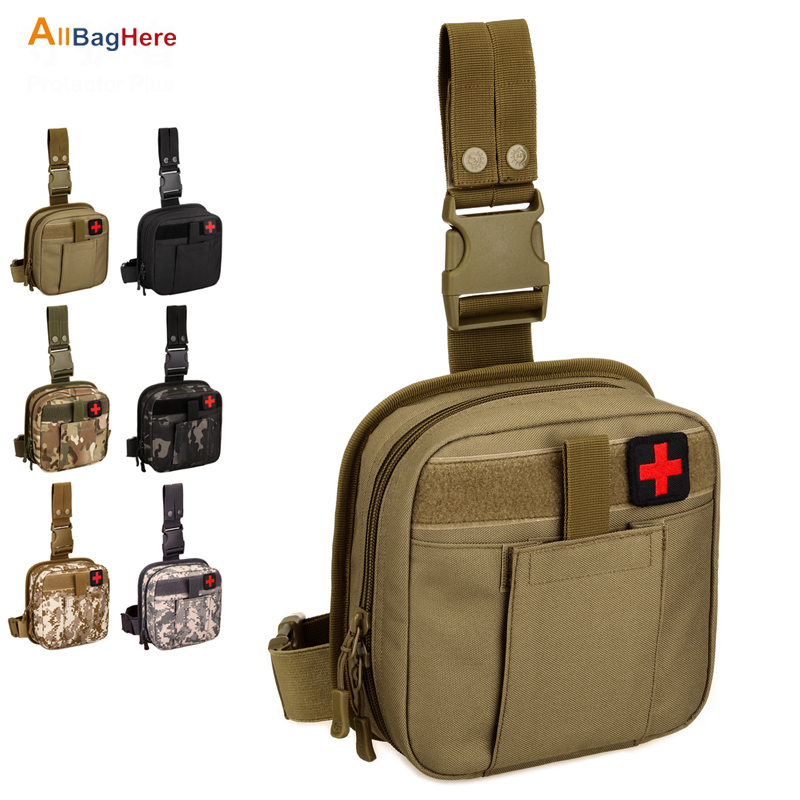 Outdoor Tactical Leg Pouch West Bag Waterproof Military Molle System First Aid Set Medical Pouch Hiking Hunting Trekking Leg Bag
