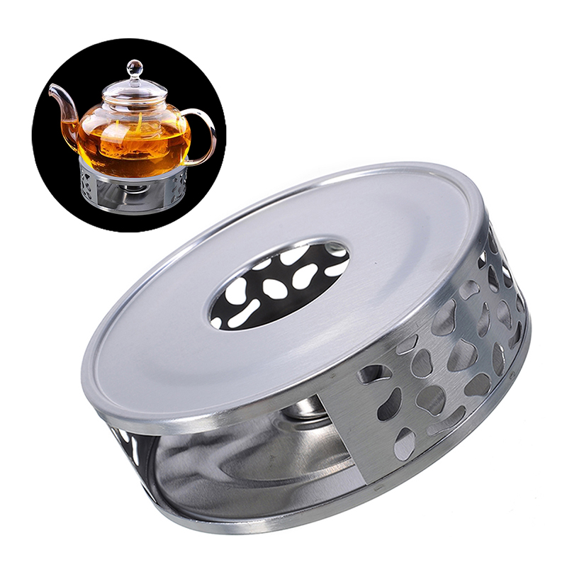 Portable Warmer Tea Holder Stainless Steel Candle Warmer Tea Light Holder Coffee Teaware Heating Base Office Home Accessories