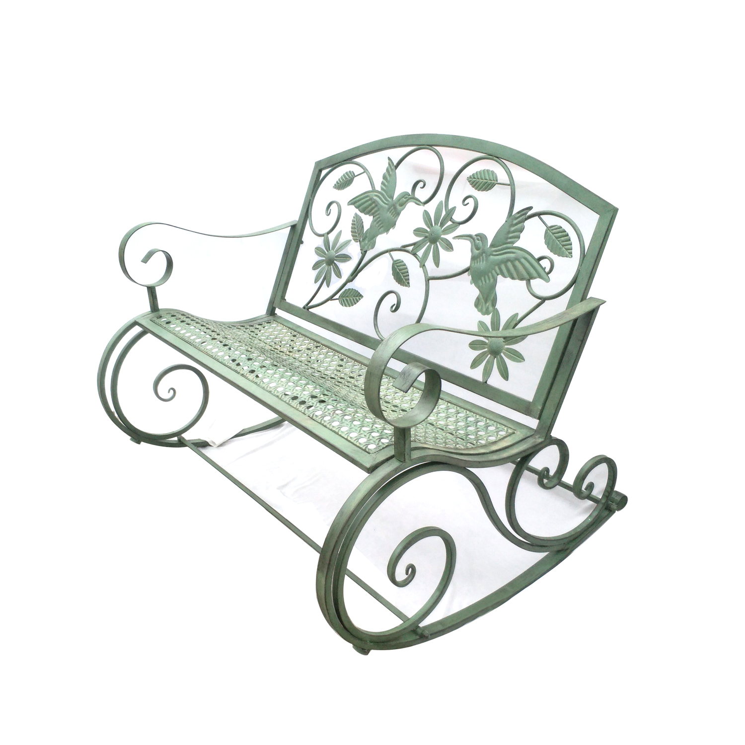 American Iron Art Retro Outdoor Rocking Chair Bench Courtyard Table And Chair Park Chair Courtyard Leisure Decoration