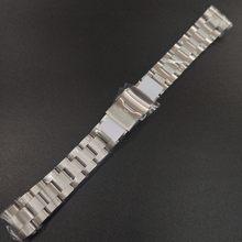 STEELDIVE SD1971 bransoleta ze stali nierdzewnej zamiennik 20MM podpisana klamra składane zapięcie z bezpieczeństwem