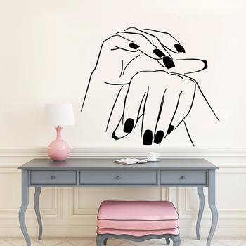 Zdejmowane naklejki na ścianę winyl salon paznokci naklejki ścienne z pcv na tle salonu piękności naklejki ścienne artystyczne naklejki ścienne tanie i dobre opinie Naklejka ścienna samolot Nowoczesne Do lodówki Do płytek Na ścianie Meble Naklejki Naklejki okienne Jednoczęściowy pakiet