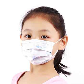 100 Pcs 3 layer Disposable Elastic Mouth Mask Soft Breathable Hygiene Anti-flu Dustproof Child Kids Medical Surgical Face Mask