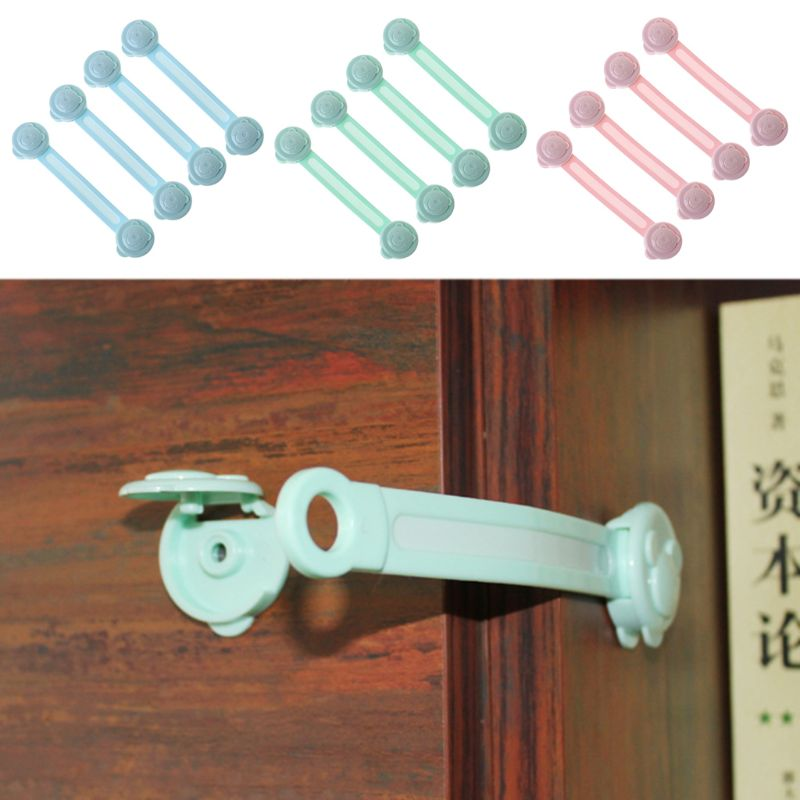 4 4 Pcs/Set Baby Safety Lock Drawer Cupboard Cabinet Door Protection Bear Cute Electric Appliance Refrigerator Kids Children