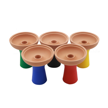 1PC New Removable Cleaning One Hole Silicone & Ceramics Bowl For Shisha Chicha Hookah Smoking Accessories