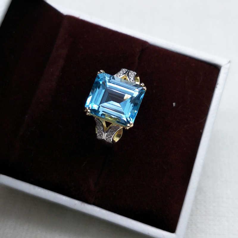 ธรรมชาติที่ดีสี BB Sky Blue Topaz เครื่องประดับชุดสร้อยคอแหวนและต่างหู 925 เงินเครื่องประดับสำหรับสตรีของขวัญกล่อง