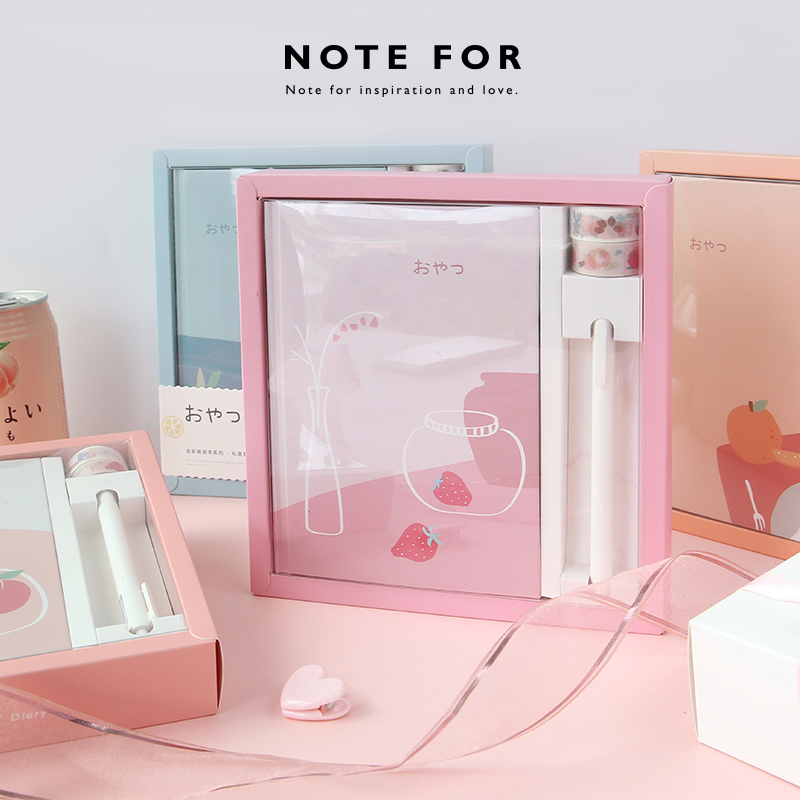Lovely INS Girl Fashion Note For Afternoon Creative Hardcover Diary Gift Set 192P Lined Notebook Free Shipping