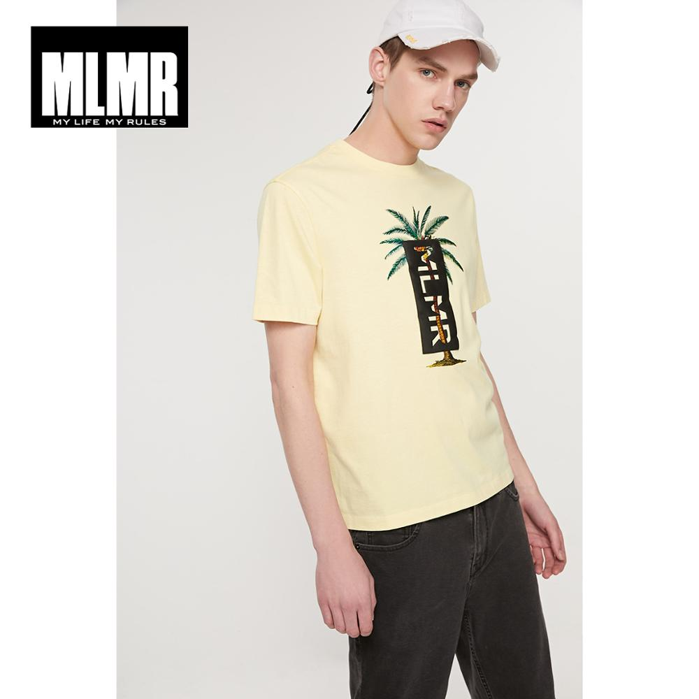 JackJones Men's MLMR 100% Cotton Letter Print Cut-outs Short-sleeved T-shirt Beach Style| 219101612