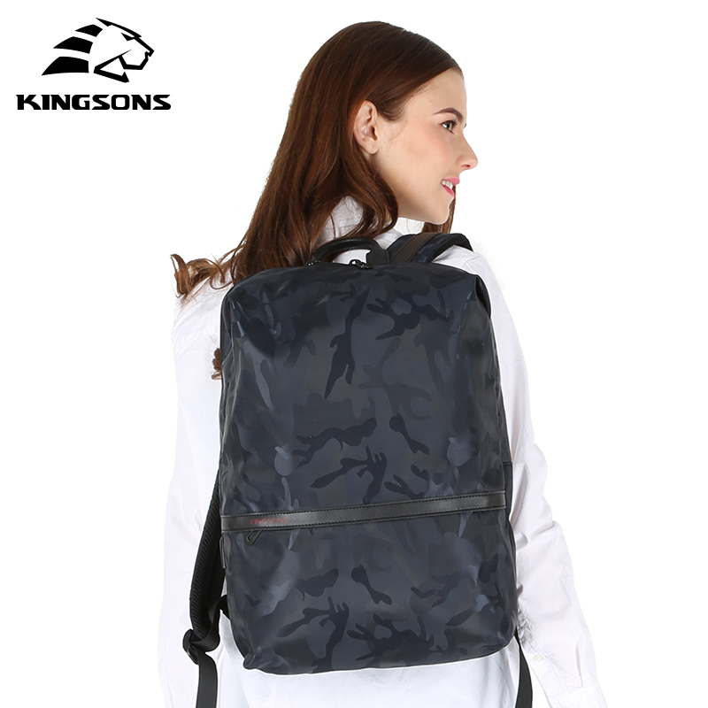 Kingsons Women 15 Inch Backpack Large Capacity Travel Bag Mountaineering Backpack Female Luggage Canvas Bucket Ladies School Bag
