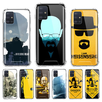 Airbag Case for Samsung Galaxy A51 A71 M31 A42 5G A21s A41 M51 A31 M31s Cover Phone Back Shell Capa Breaking Bad Chemistry Walte image